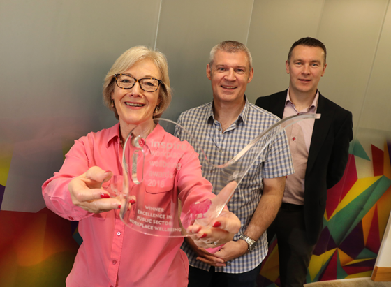 Wendy and Oisin team up for Inspire's Workplace Wellbeing Awards