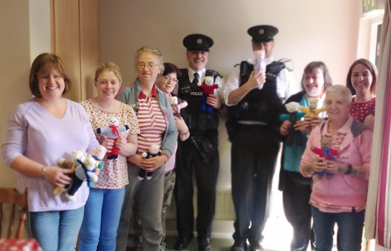 Inspire Mental Health Donate Teddies to the PSNI