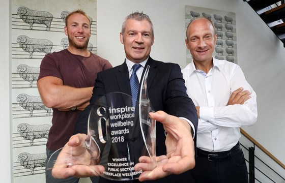 Rugby star Stephen Ferris Inspires Workplace Wellbeing Awards